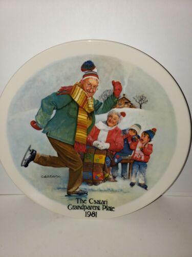 The Skating Lesson Collector Plate Csatari Knowles 1981