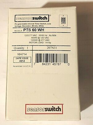 Sensor Switch Pts 60 Wh Programmable Interval Timer Switch