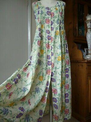 Anokhi East Indian Cotton Floral Button Thro' Midi/Maxi Dress,Vintage,Hippy boho