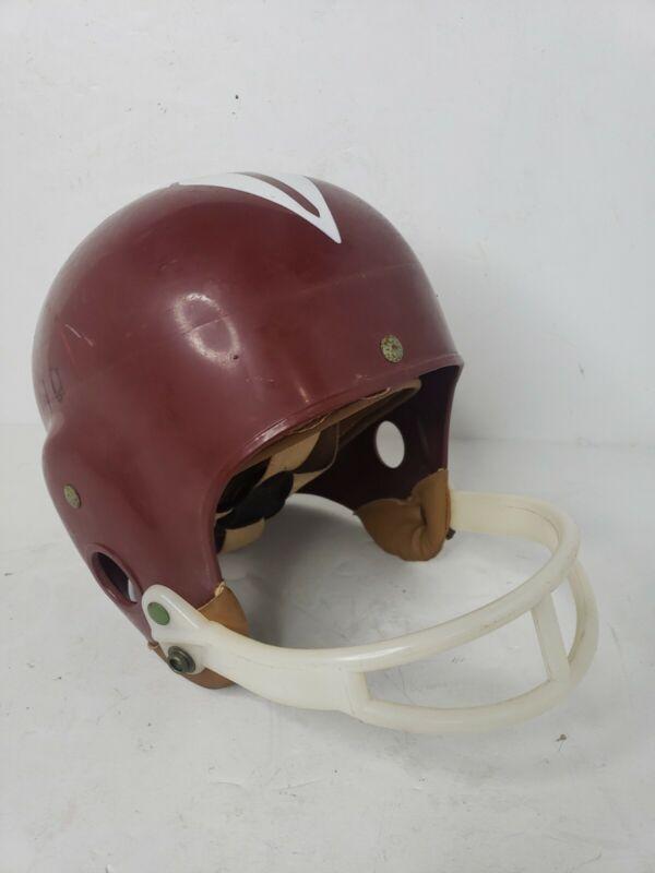Vtg 50s - 60s Macgregor Youth Football Helmet E69GF Size LG - Maroon / White
