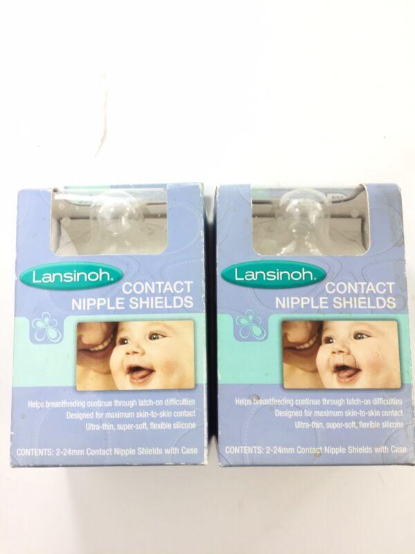 Lasinoh 24mm Size 2 Breastfeeding Contact Nipple Shields Lot of 2