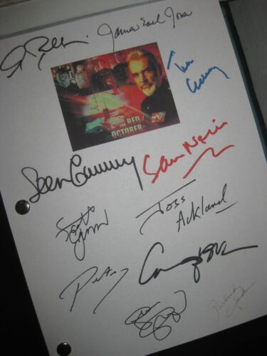 The Hunt for Red October Signed Film Script X11 Sean Connery Sam Neill Tim Curry