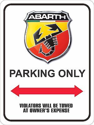 """ABARTH Parking Sign 9"""" x 12"""""""