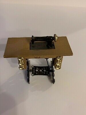 Vintage Doll House Furniture Miniature Antique Sewing Machine, used for sale  Arlington Heights