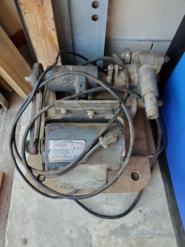 Vintage Vapor Blast Mfg. B20V274 Pump With GE  5KC39UN1X Motor
