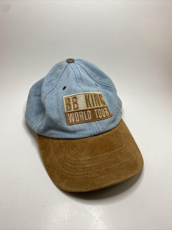 BB King World Tour Guitar Rare Vintage Blues Concert Hat Denim Wool Embroidered