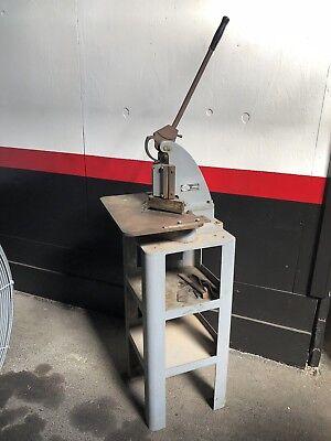 Di-acro Notcher On Factory Stand Base 6 X 6 Tab Corner Notch