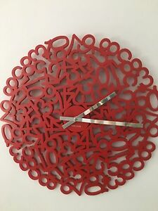 Karlsson Number wall clock Bass Hill Bankstown Area Preview
