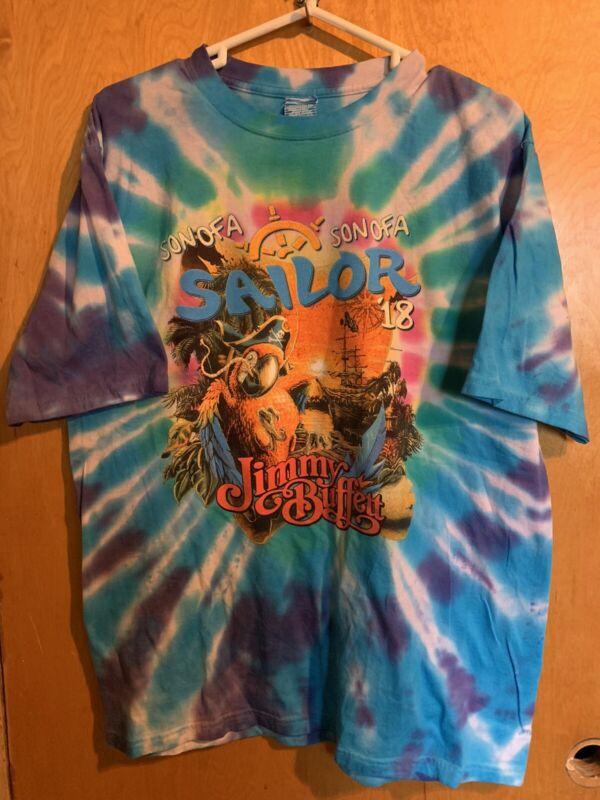 Jimmy Buffett Son Of A Sailor Tour 2018 Tie Dye Shirt Mens Lg EUC