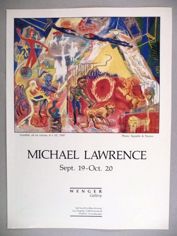Michael Lawrence Art Gallery Exhibit PRINT AD - 1987