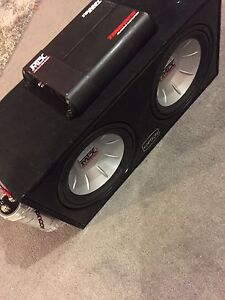 "^**2 12"" 1000 WATT MTX SUBS PORTED BOX CAP & 1200 WATT AMP!"