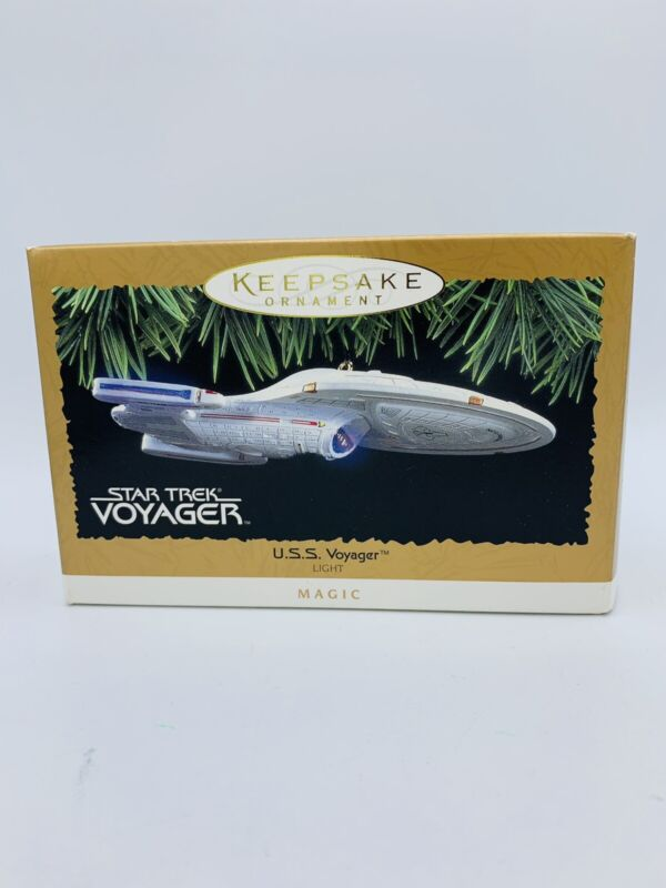 Hallmark Keepsake Star Trek Voyager USS Voyager Ornament 1996 Magic light