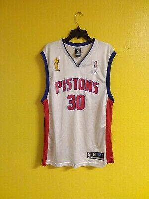 🏀 DETROIT PISTONS #36 RASHEED WALLACE 2004 FINALS NBA REEBOK JERSEY MENS - M