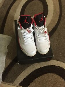 "BNIB DS Jordan 5s  ""Fire Red"""