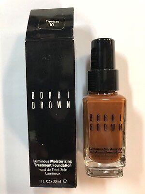 Bobbi Brown Luminous Moisturizing Treatment Foundation in Espresso #10-Boxed