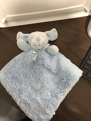 Blankets & Beyond Blue Sherpa Puppy Dog Baby Lovey Security Blanket