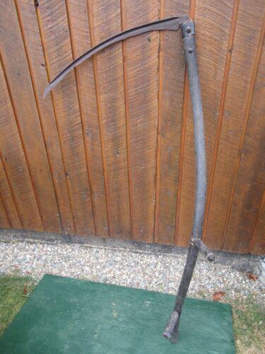 "Vintage Antique 56"" Long Scythe Hay Grain Sickle Farm Tool Blade is 26"" Long"