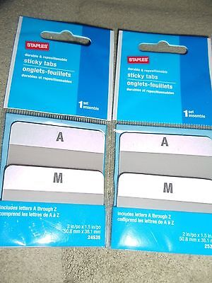 Staples Sticky Tabs A Through Z 24535 Lot Of 2