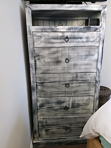 Hand finished rustic tall boy Waverley Eastern Suburbs Preview