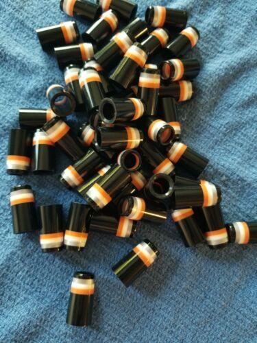 (10) Custom .355 Golf Iron Ferrules Black w/ Silver White Orange Rings