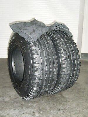 2 Reifen 10.0 / 75 - 15 Reifen 10.0/75-15.3 Ackerwagen Reifen 10-15  + Schlauch