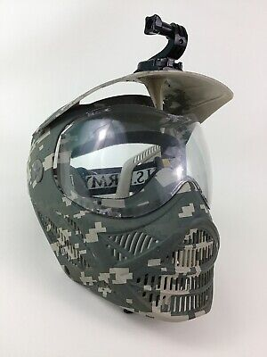 Face Mask Paintball or Sports Bike US Army Digital Camo with Go Pro Camera Mount, used for sale  Shipping to India