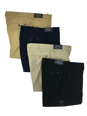 Khaki Flat Front Chino - Polo Ralph Lauren Mens Classic Fit Flat Front Chino Big and Tall Khaki Pants New