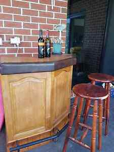Mini bar. Solid timber Revesby Heights Bankstown Area Preview