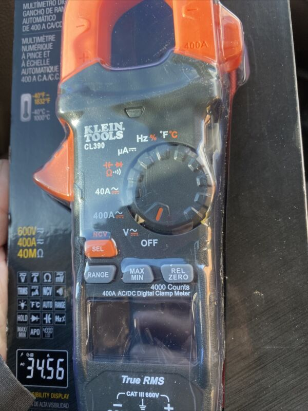 Klein Tools CL390 400A AC/DC Auto-Ranging Digital Clamp Meter - Brand New!!!