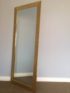 Free Standing Gold Mirror - Excellent Condition