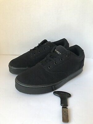 Heelys Launch Black Canvas Skate Shoes 770155 Boys Youth Size 6