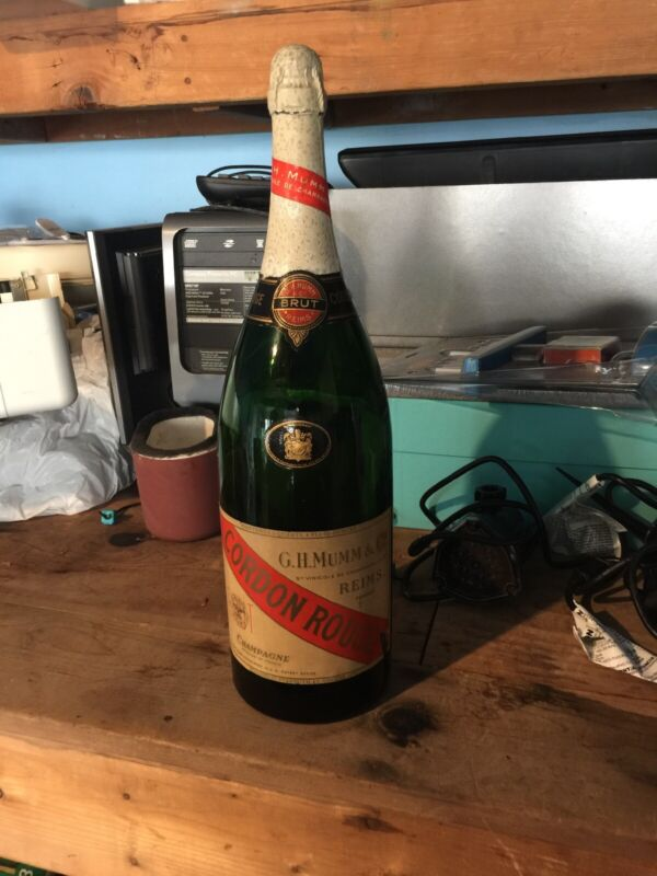 """HUGE 19"""" tall Brut Cordon Rouge Champagne Advertising Store Display Bottle"""
