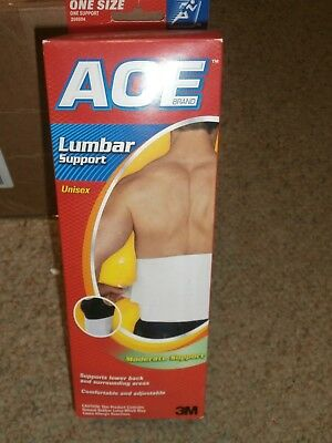 ACE BACK LUMBAR SUPPORT ONE SIZE FITS ALL MODERATE SUPPORT