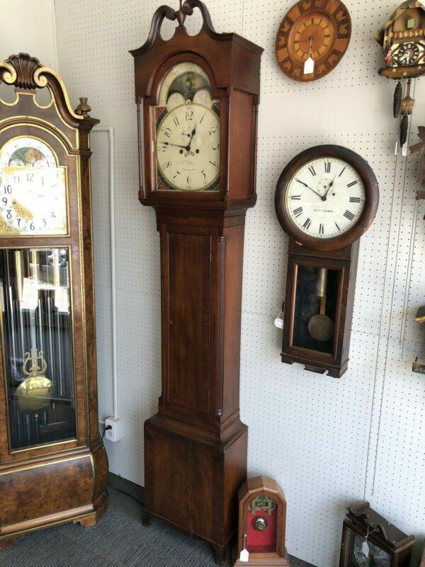 Antique Abraham Patton Jones And Patton Tall Case Clock Circa 1810 Serviced Rare