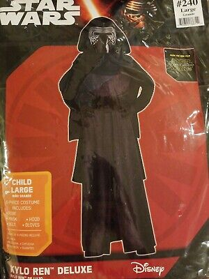 Brand New Disney Star Wars Kylo Ren Deluxe Child Costume Large- No Mask
