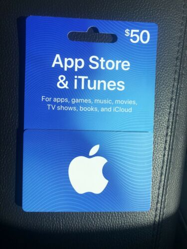 Brand New Apple App Store ITunes 50 Gift Card For Apps, Music, Games, Movies - $45.00