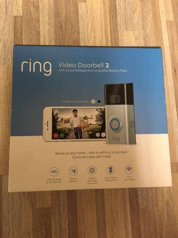 Ring Video Doorbell 2 1080 HD Video Wi-Fi Weather-Resistant