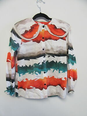 WOLF&RITA printed button down top girls sz 10Y