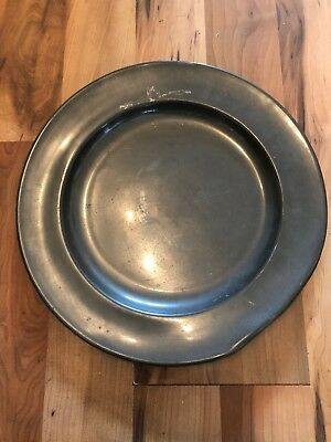 Large Late C18th P&d London Pewter Charger