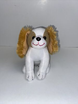 Mattel Barbie Just Play Puppy Dog Plush White with Brown Ears, Eyes
