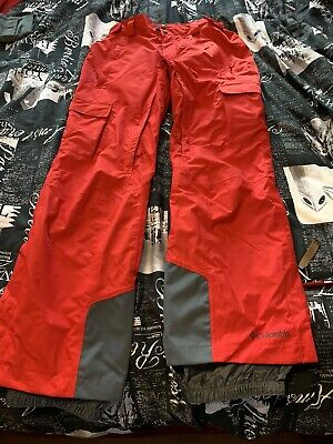 NWT Columbia Ridge 2 Run II Omni-Tech Snow Pants MENS M RED Omni-Heat Ski Run Omni Tech Pant