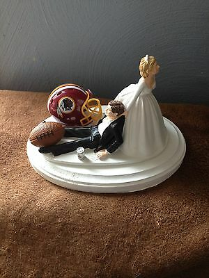 Washington Redskins Cake Topper Bride Groom Wedding day NFL Funny Football Theme (Redskins Cake)