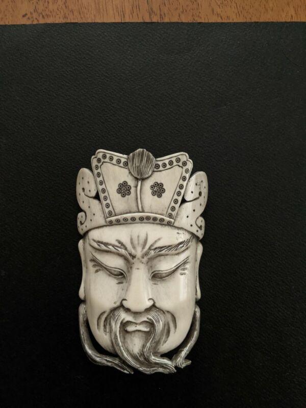 Extremely RARE JAPANESE Bone Mask  Circa 1930