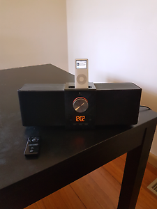Logitech speakers with iPhone charging dock Blackburn Whitehorse Area Preview