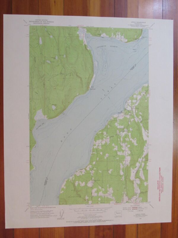 Lofall Washington 1955 Original Vintage USGS Topo Map