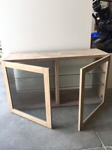 2 Ikea glass cupboards for sale