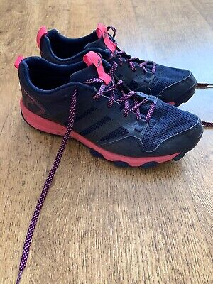 Adidas Kanadia 7TR Trainers | Uk Size 7 | Grey And Pink