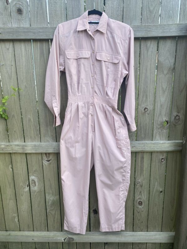 Womens Vintage Chaus Jumpsuit Playsuit Romper Jumper Pink Small 70's 80's