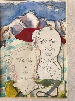 """La Thoriel Badenhausen """"Our Mountain"""" Mixed Media On Paper"""