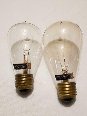 ANTIQUE VINTAGE 2 MOLINE ELECTRIC LIGHT BULBS 16/104 & 4/104